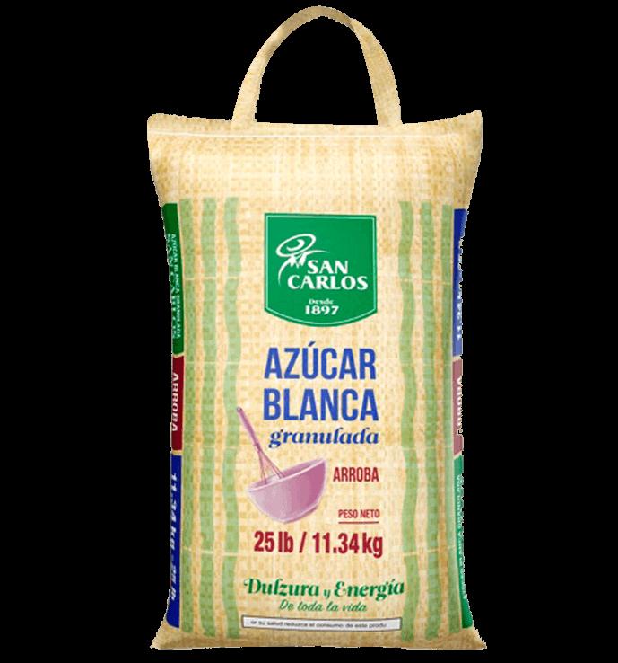 Azúcar Blanca San Carlos 25lb